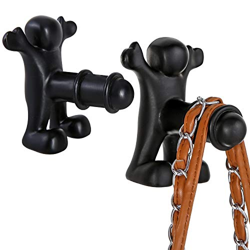 MyGift Wall Mounted Novelty Gag Gift Coat Storage Hooks, Set of 2