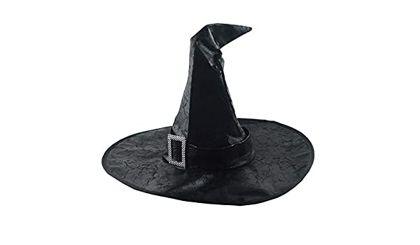 Chezaa Halloween Ruched Witch Hat Decorations Novelty Funny Prop Cool Design Gift Accessory for Women Holiday Halloween Party Decor Coffee
