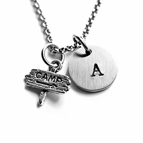 bdb40d3171b2 Amazon.com  Antique Silver Plated Camp Necklace