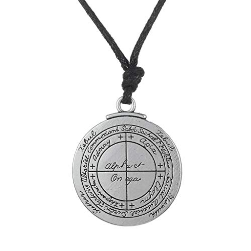 Unisex Talisman Solomon Round Pentacle Seal Pendant Necklace Wiccan Jewelry Necklace Jewelry Crafting Key Chain Bracelet Pendants Accessories Best