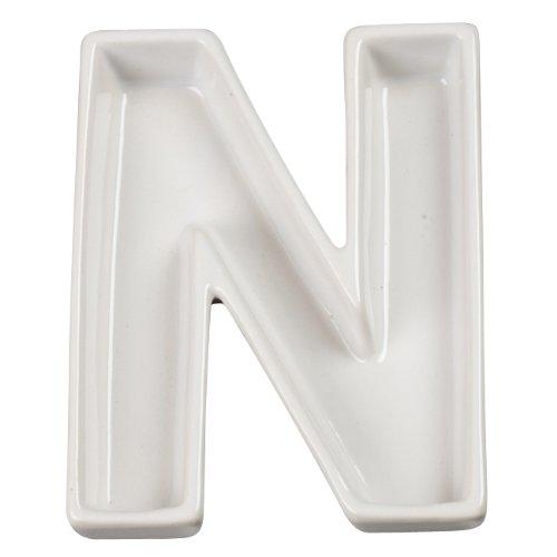Ivy Lane Design Ceramic Love Letter Dish, Letter N, (New Monogram Letter)