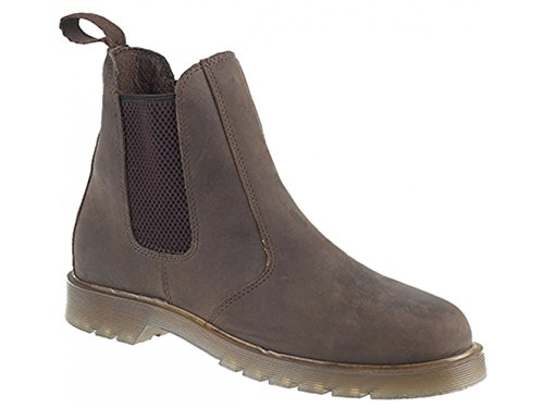 Grafters - Botas Chelsea hombre Brown Waxy Leather