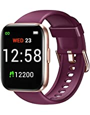 Fitniv IW1 Smart Watch, 1.4 Inch Touch Screen Smartwatch with Blood Oxygen Saturation & Heart Rate Monitor, IP68 Waterproof Fitness Tracker Compatible with iPhone and Android Phones for Women Men