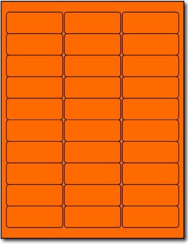 "3,000 Compulabel® 311207 Fluorescent Neon Orange Labels 1"" x 2-5/8"""