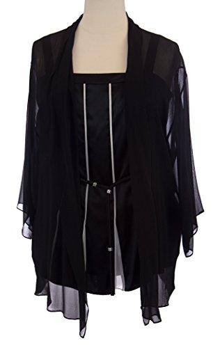 - Marina RINLADI by MaxMara Dogare Black Tank Top w/Cardigan & Waist Belt