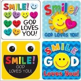 Sticker Treasure - Smile, God Loves You! Sticker Pack