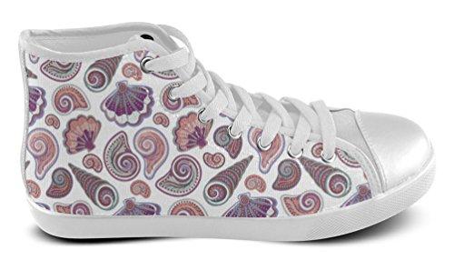Caballero / Masculino / Zapatillas De Deporte Casuales Para Hombre Zapatos De Tacón Alto Con Mar Underrwater Abstract Floral White3