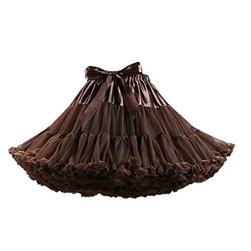 Beautyfine ❤ Vintage Tutu Ballet Bubble Skirts Adult Solid Color Dance Party Dance Tulle Skirt