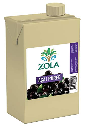Zola Brazilian Superfruits Acai Berry Puree, 46 Ounce Box