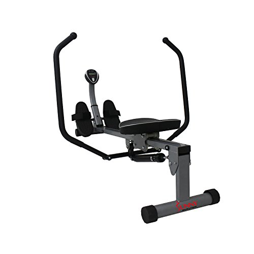 Sunny Health & Fitness SF RW1410 Rowing Machine Rower with Full Motion Arms and LCD Monitor
