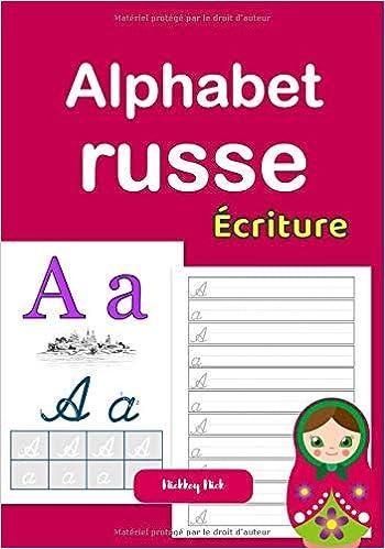 Alphabet russe écriture