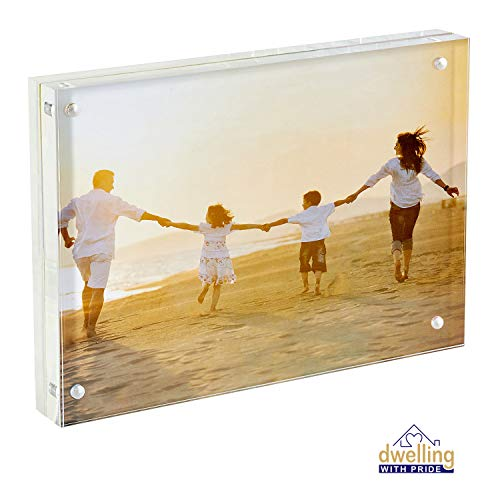 Dwelling With Pride Acrylic Picture Frame 8x10 Inch | Acrylic Photo Frame | Collage Stand for Family Photographs | Clear Picture Frames for Office Desk & Side Table | Wedding Table Décor