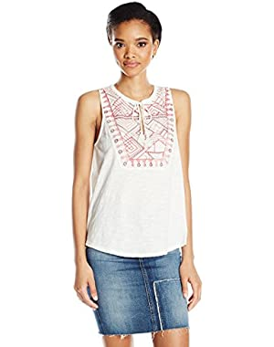 Women's Embro Sequin Tank Top