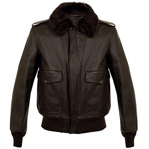 Cowhide Leather Flight Jacket - 8