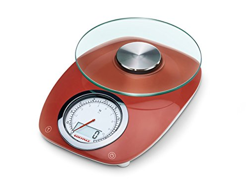 Soehnle Vintage Style Kitchen Scale Stainless Steel Red Amazon Co