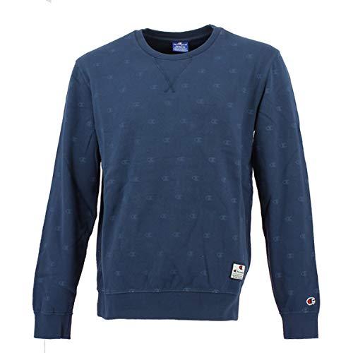 Sweat Reverse Bleu Champion Sweatshirt Fb000601 Homme Bl509 shirt Crewneck isb Weave allover OxdIq