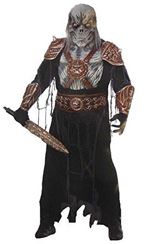 [Forum Novelties Men's Ghoul Medieval Warrior Costume, Black, Standard] (Royal Guards Costume)