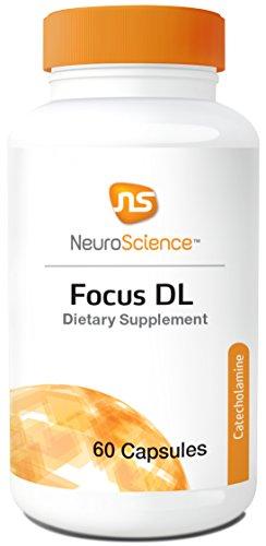 NeuroScience Focus DL - Cognitive Support 1000 mg Phenylalanine (Dopamine + Norepinephrine Precursor) 60 Capsules