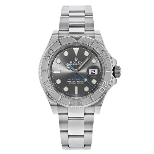 Rolex Yacht-Master 40 Dark Platinum Dial Steel Oyster Mens Watch 116622DPLSO