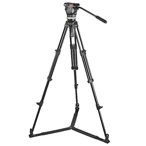 Sachtler 1002 Ace M GS System with Ace M Fluid Head, Tripod, On-Ground Spreader SP 75, Bag, Camera Mounting Plate, Pan Bar by Sachtler