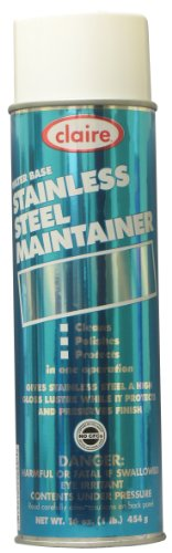 Claire C-844 16 Oz. Water Base Stainless Steel Maintainer Aerosol Can (Case of 12)