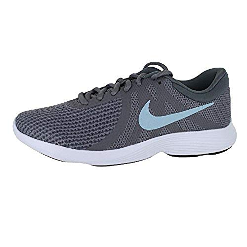 NIKE Women's Revolution 4 Running Shoe Gunsmoke/Ocean Bliss/Dark Grey Size 6.5 M US