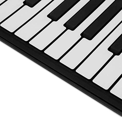 JJCFM Mano Roll Piano, Portatile Silicone + Plastic 88 Chiavi Mano Roll Up Elettronica Piano Tastiera Midi con L'apprendimento Learning Giocattolo Musica Giocattolo Musicale Instr