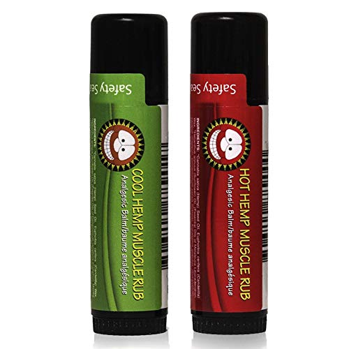 Merry Hempsters Muscle Rub, 0.6 Ounce, Made in The USA, Vegan Certified (Combo, 2 Pack)