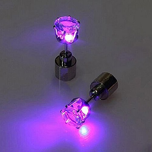 IC ICLOVER Led earring,1 Pairs Cool Shiny Glowing Led Lighting Earring For Christmas Thankgiving Gift