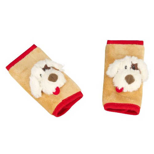 Jeep Car Seat Strap Covers 2 Pack, Plush Puppy