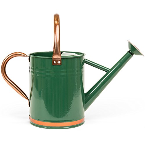 Best Choice Products Gardening Galvanized Steel Watering Can (Green/Copper)
