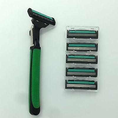 Afeitadora eléctrica recargable afeitadora Triple giratorio con ...