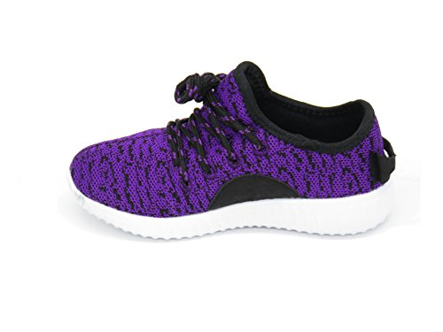 Blue Berry EASY21 Damen und Kinder Breathable Fashion Sneakers Casual Slip-on Loafers Sportschuhe Sportschuhe Lila