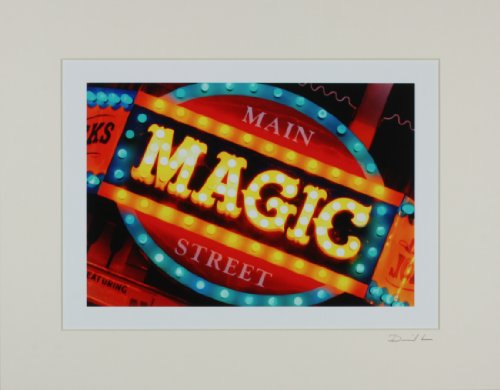 Disneyland - Main Street Magic Shop Sign Matted Photo - 11 x - Disneyland Street Main Shops
