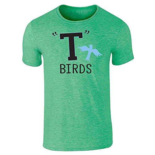 T Birds Gang Logo Costume Retro 50s 60s Heather Irish Green XL Short Sleeve T-Shirt]()