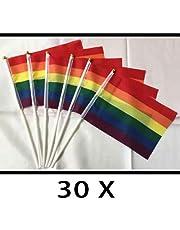 Qualitäts Fahne Flagge Regenbogen Rainbow mit verstärktem Hissband