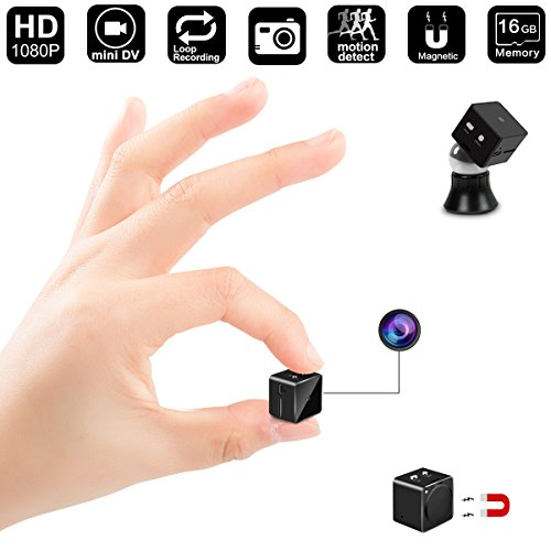Mini Hidden Camera,DigiHero 16GB HD Mini Hidden Camera with Motion Detective,Magnet Mount,Perfect Video Recorder for Home and Office