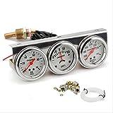 Car 12V Gauge Kit, Meter 2 Inch (52MM), Ammeter Gauge Oil Pressure Gauge Water Temperature Or Oil Temperature, Automobile Hydraulic Water Temp Current Mechanical Meters
