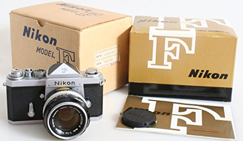 (NIKON F with auto NIKKOR-S 50mm f1.4 MINT/LN condition #6701690. orig box)