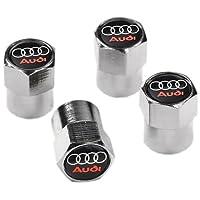 Audi Couvercle pour écrous de roues Noir et Chrome Valve pneu poussière