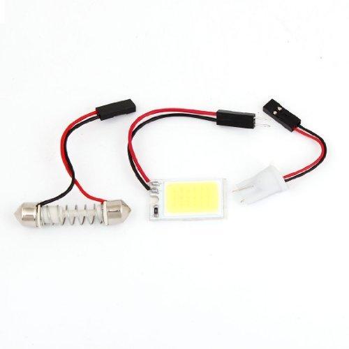 Amazon.com: eDealMax COB Panel Bombilla Blanco 18 LED Interior Luz del techo w adaptador de Adorno T10 Para el coche: Automotive