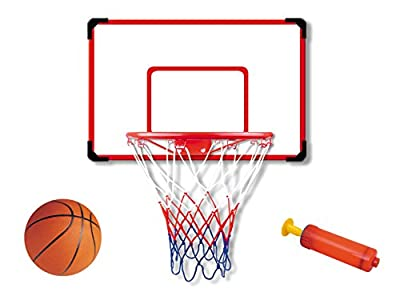 "Indoor/Outdoor XL Big Basketball Hoop Set - 27"" x 18"" Backboard + 15"" Rim"