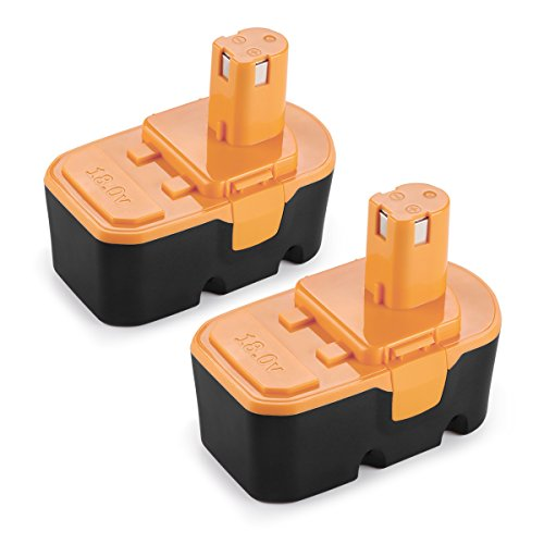 Energup 2 Pack 18V 3.0Ah Replacement Battery for Ryobi One Plus P100 P101 Ryobi 18V Cordless Power Tools Battery