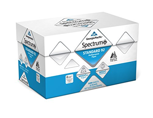 Georgia Pacific 991322C Spectrum Standard 92 Multipurpose 8.5 x 11 1 box of 10 packs 5000 sheets