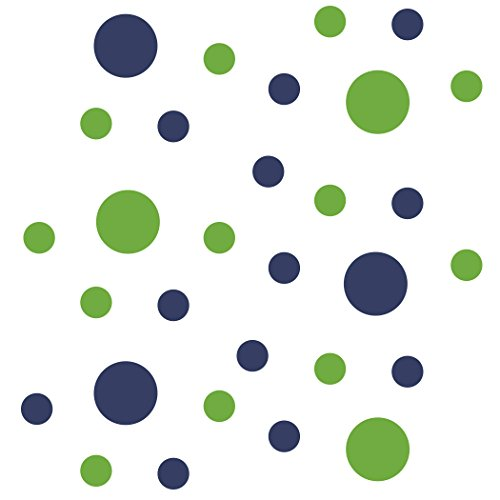 Lime Green/Navy Blue Vinyl Wall Stickers - 2