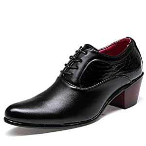 Shoes Men's Shoes Leather Spring Summer Fall Comfort Formal Shoes Lace-up For Casual Black