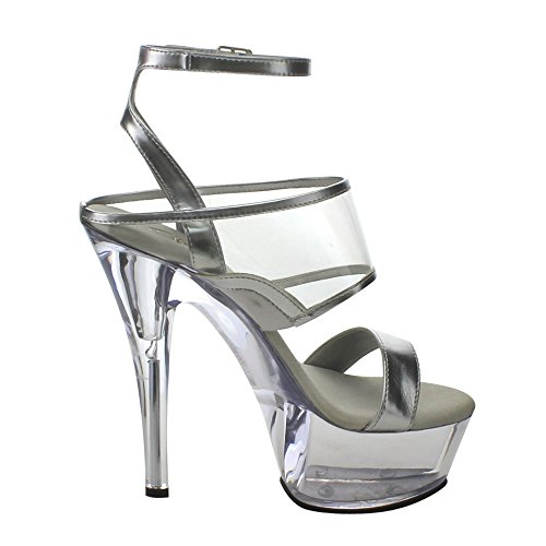 Clr Clr KISS Pu Slv Size Pvc UK 39 EU 260 Pleaser Metallic 6 0Xxg0p