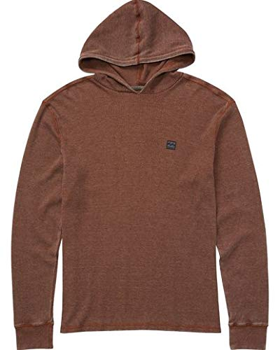 (Billabong Boys' Big Keystone Pullover Hoody, Rust Brown L)