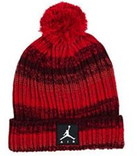 089bf3b4c77aeb NIKE Air Jordan Illusion Pom Beanie Knit Cuff Cap Winter Ski Skully Hoops  Hat (Red/Burgundy) Youth 8-20 - Buy Online in Oman. | Sporting Goods  Products in ...