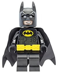 Lego Batman Movie 9009327 Batman Kids Minifigure Alarm Clock | Black/Yelow | Plastic | 9.5 inches Tall | LCD Display | boy Girl | Official